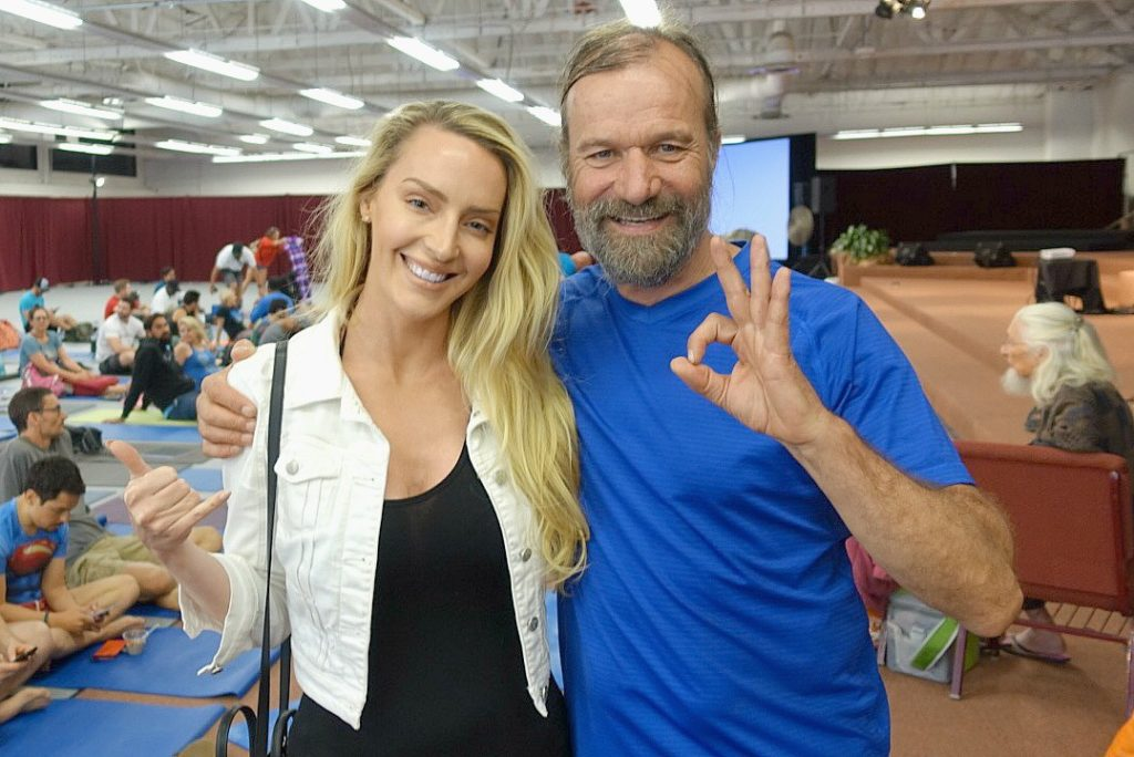 Lacey Jones and Wim Hof